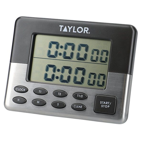 Taylor Pro Stainless Steel Dual Event Digital Timer