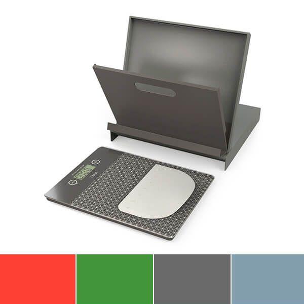 Venn Digital Kitchen Scales with Cookbook Stand & Bowl Scraper Grey