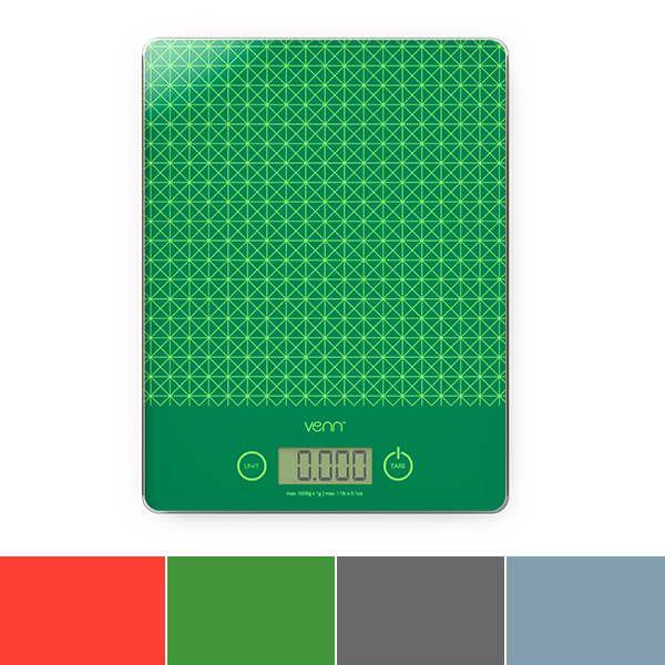 Venn Digital Kitchen Scales With Integrated Bowl Scraper Green