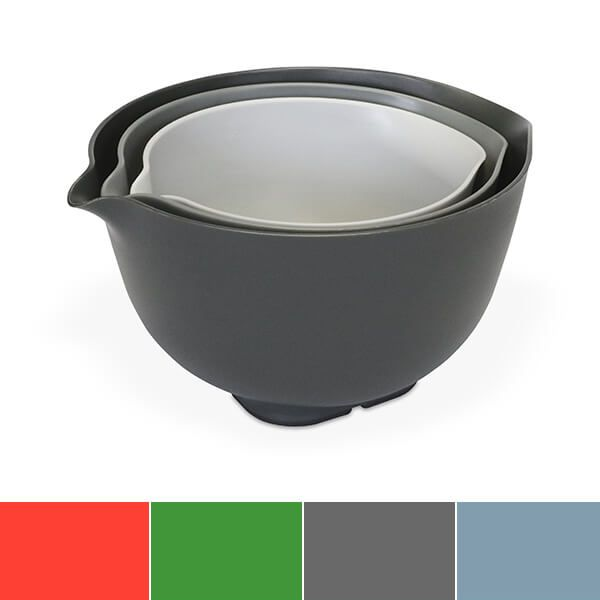 Venn Stacking Set Of 3 Mixing Bowls With Lid Grey