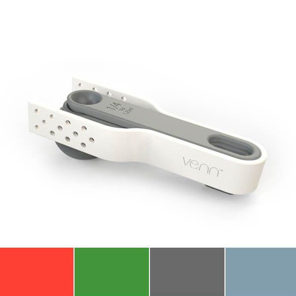 Venn Interlock Stacking Measuring Spoons & Tongs Set Grey