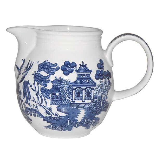 Churchill China Blue Willow Georgian Milk Jug 850ml