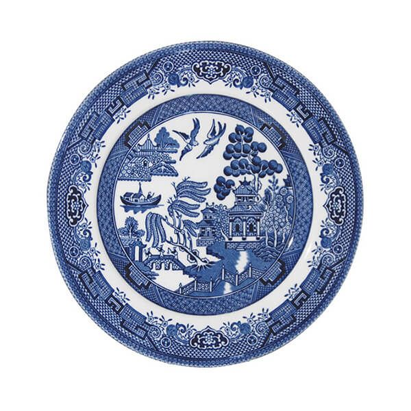 Churchill China Blue Willow Plate 17cm
