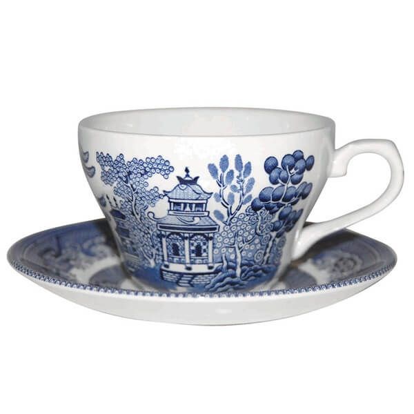 Churchill China Blue Willow Georgian Tea Saucer 14cm