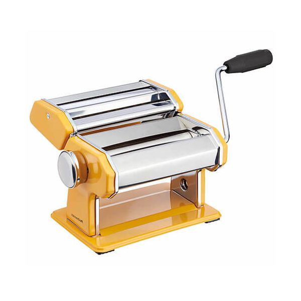 World of Flavours Italian Deluxe Double Cutter Pasta Machine Yellow