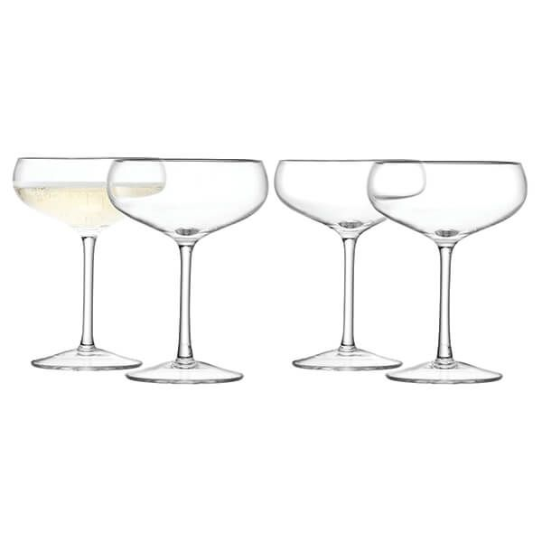 LSA Wine Champagne Saucer 215ml Clear Set Of Four