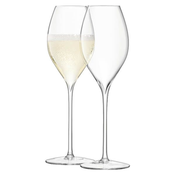 LSA Wine Champagne Tulip Glass 370ml Clear Set Of Two