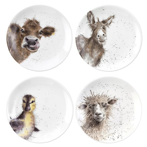 Wrendale Designs Set of 4 Animal Coupe Plates