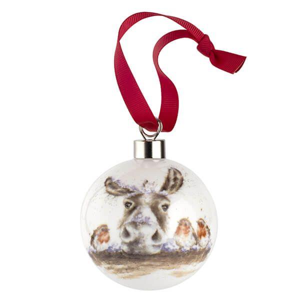 Wrendale Designs Ceramic Christmas Decoration The Christmas Donkey