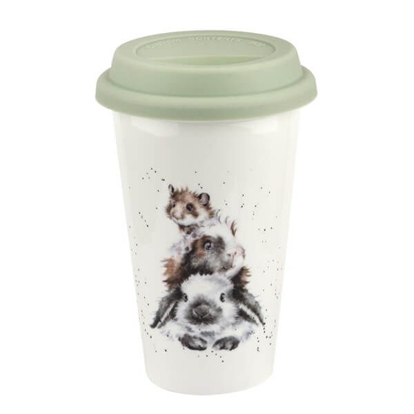 Wrendale Designs Rabbit, Guinea Pig, Mouse Travel Mug