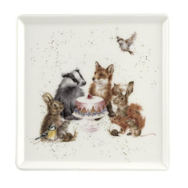 Wrendale Designs Woodland Party Square Plate