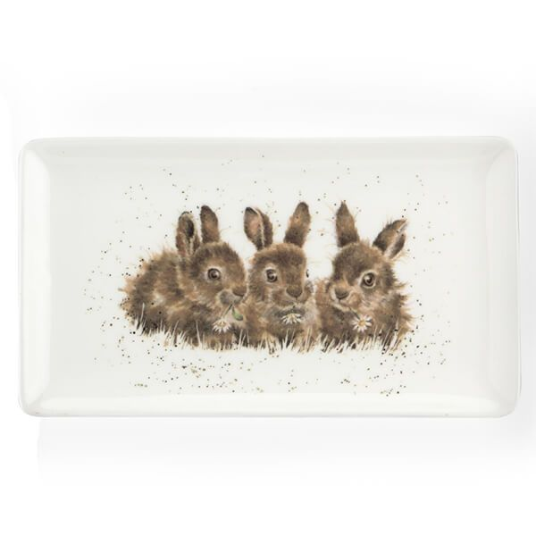 Wrendale Designs Rabbits Rectangular Tray