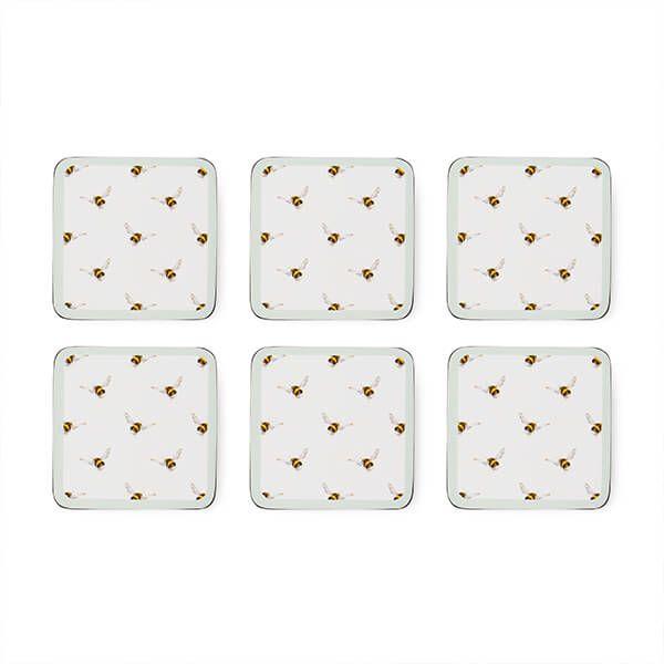 Wrendale Designs Set of 6 Bee Coasters
