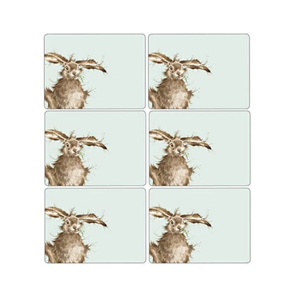Wrendale Designs Hare Placemats Set Of 6