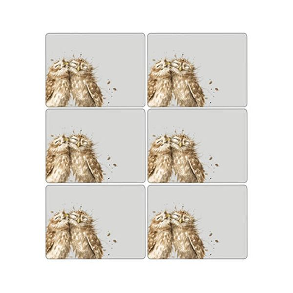 Wrendale Designs Owl Placemats Set Of 6