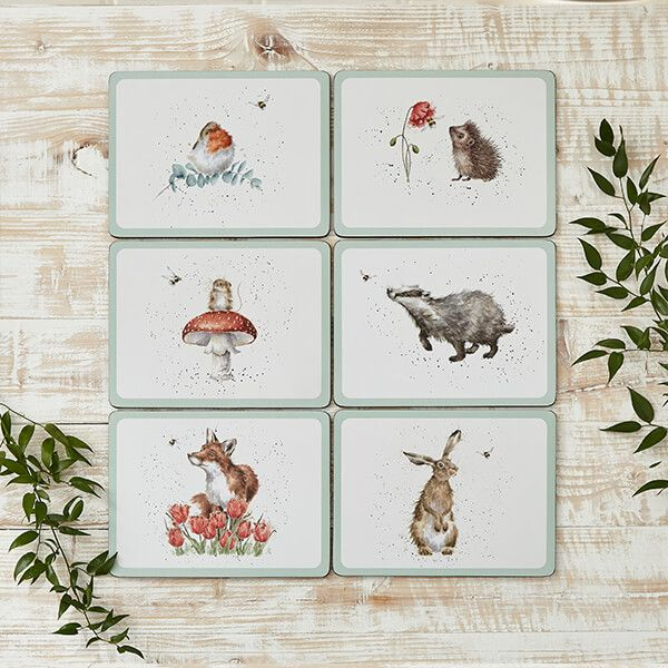 Wrendale Designs Set of 6 Bee Placemats