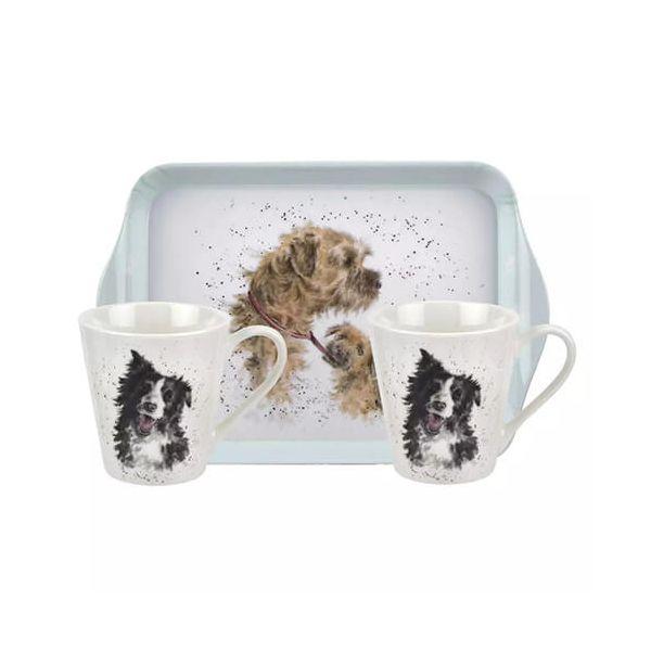 Wrendale Designs Mug & Tray Set Dogs 6 for 5