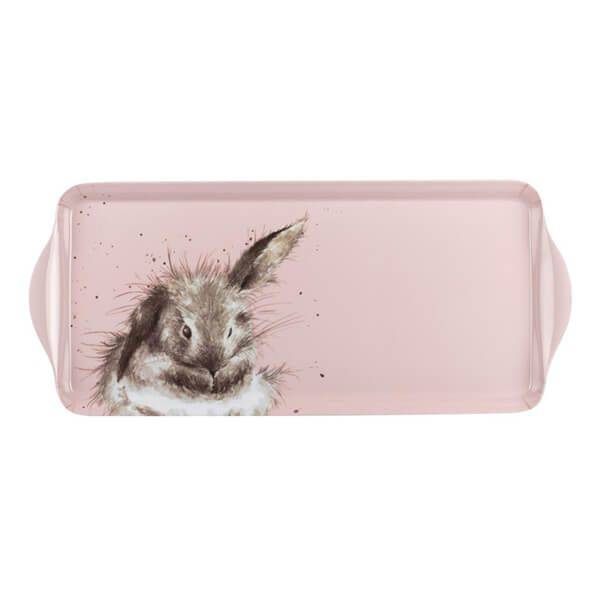 Wrendale Designs Sandwich Tray Pink Rabbit