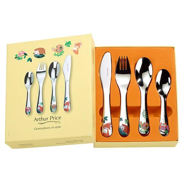 Arthur Price Woodland 4 Piece Children's Cutlery Set