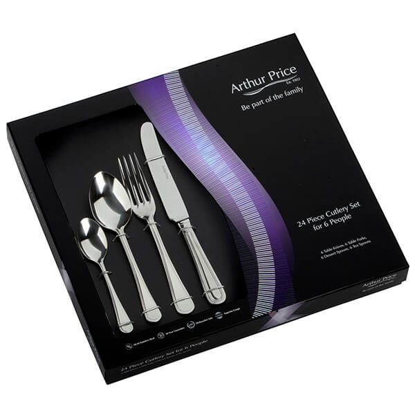 Arthur Price Classic Bead 24 Piece Cutlery Gift Box Set