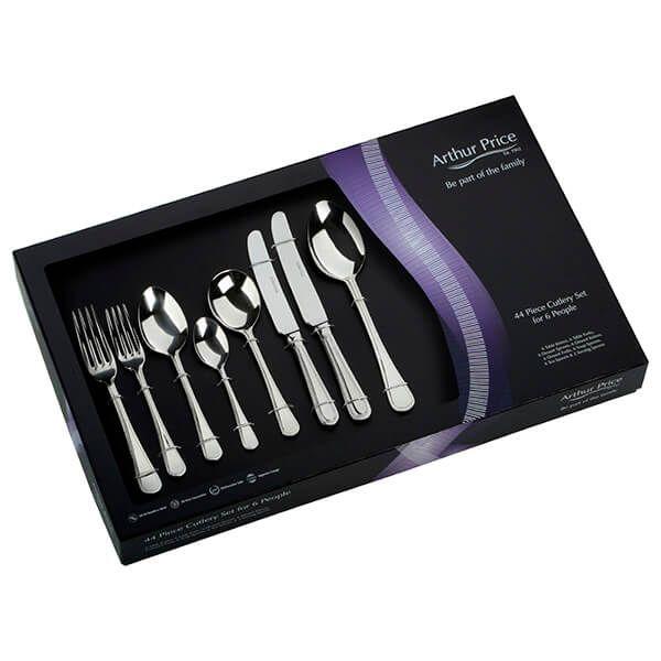 Arthur Price Classic Bead 44 Piece Cutlery Gift Box Set FREE Extra Six Tea Spoons