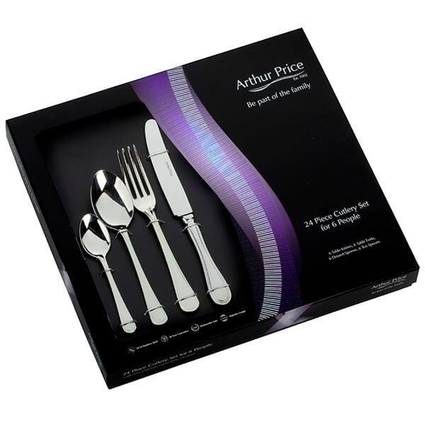 Arthur Price Classic Britannia 24 Piece Cutlery Gift Box Set