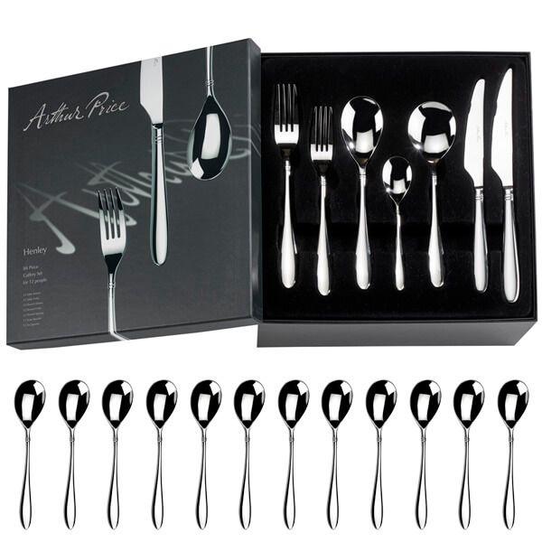 Arthur Price Signature Henley 84 Piece Cutlery Box Set plus FREE Set of 12 Tea Spoons