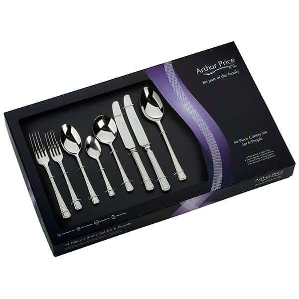 Arthur Price Classic Harley 44 Piece Cutlery Gift Box Set FREE Extra Six Tea Spoons