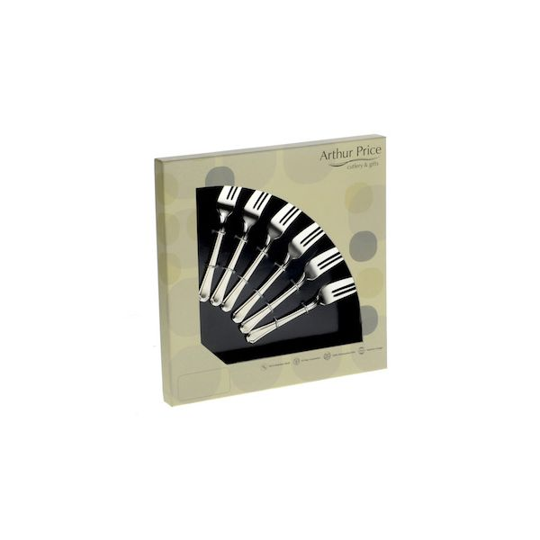 Arthur Price Classic Dubarry Set of 6 Pastry Forks