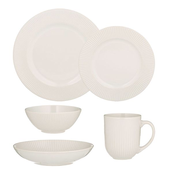 Mason Cash Linear White Tableware Set