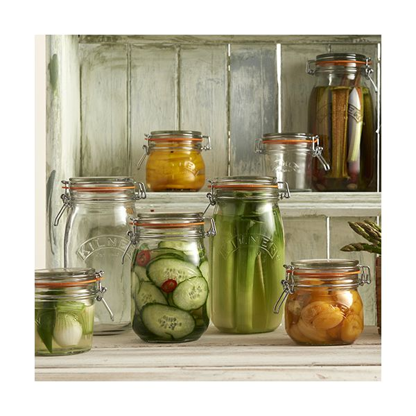 Kilner Clip Top Jar Round 1 Litre