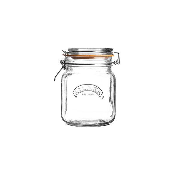 Kilner Clip Top Jar Square 1 Litre