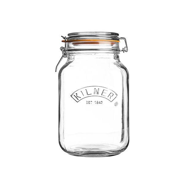 Kilner Clip Top Jar Square 2.0 Litre