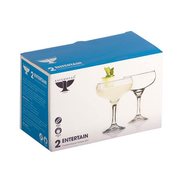 Ravenhead Entertain 200ml Set Of 2 Cocktail Saucers