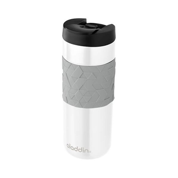 Aladdin 470ml Easy-Grip Leak-Lock White Travel Mug