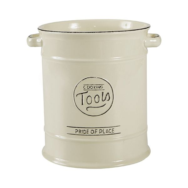 T&G Pride Of Place Large Cooking Tools Jar Old Cream