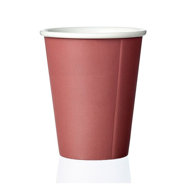 73b23c38d1 VIVA Scandinavia Laura Red Cappuccino Cup 200ml 10V70053 | Harts of Stur