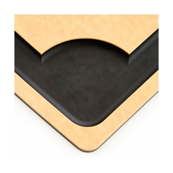 "Epicurean Signature Wood Composite Carving Series 14.5"" x 11.25"" Natural / Slate Cutting Board"