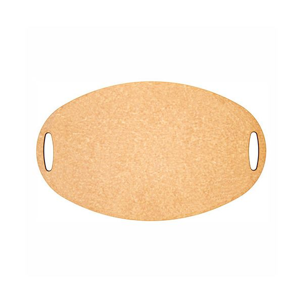 """Epicurean Signature Wood Composite Carving Series 23.5"""" x 15.25"""" Natural / Slate Oval Cutting Board"""