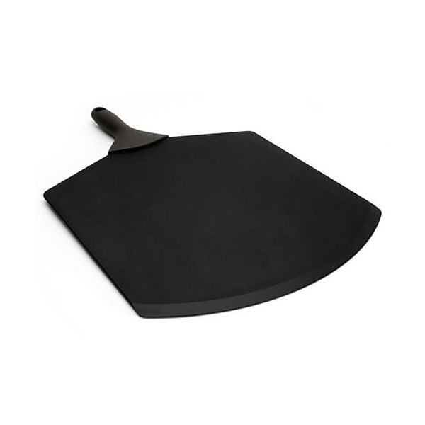 "Epicurean Signature Wood Composite 21"" x 14"" Slate Pizza Peel With Brown Silicone Handle"