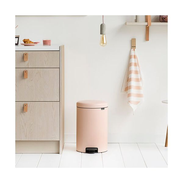Brabantia NewIcon 20 Litre Pedal Bin Clay Pink