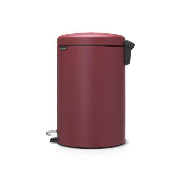 Brabantia NewIcon 20 Litre Pedal Bin Mineral Windsor Red