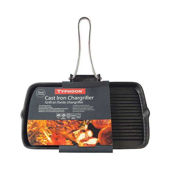 Typhoon Solutions Folding Handle Rectangle Chargriller
