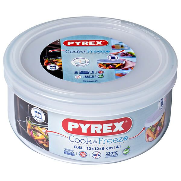 Pyrex Cook & Freeze 12cm Round Dish With Lid
