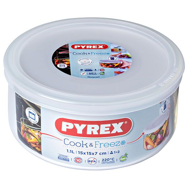 Pyrex Cook & Freeze 15cm Round Dish With Lid