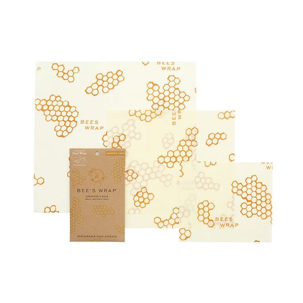 Bee's Wrap Honeycomb Print Set Of 3 Assorted Size Wraps