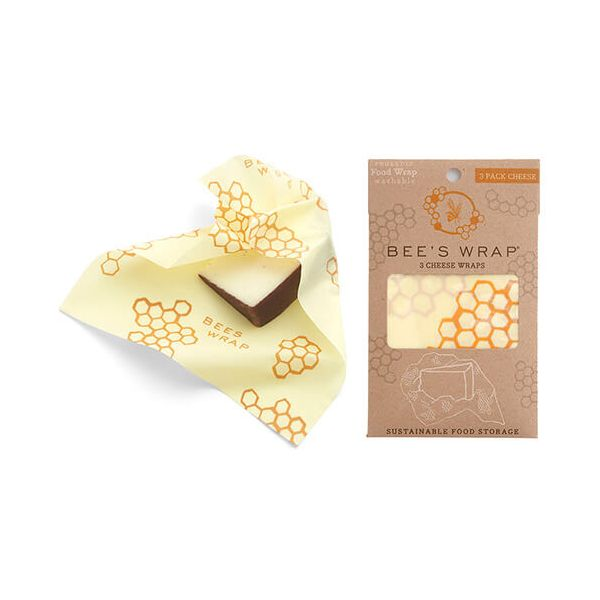 Bee's Wrap Honeycomb Print Set Of 3 Cheese Wraps