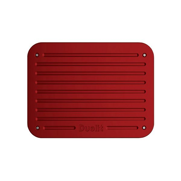 Dualit Architect 2 Slot Grey Body With Apple Candy Red Panel Toaster