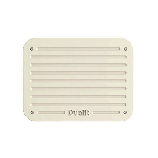 Dualit Architect 2 Slot Grey Body With Canvas White Panel Toaster