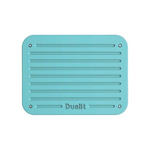 Dualit Architect 2 Slot Black Body With Azure Blue Panel Toaster